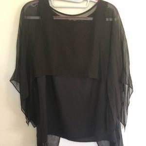 Black chiffon Marciano blouse